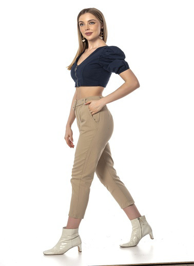 Coral Pantolon Taş